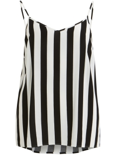Object Top OBJBAY S/L SLIP TOP AOP 101 23029367 Black/W. WHITE STRIPES