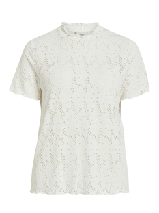 Vila T-shirt VIBELLAS S/S T-SHIRT 14052196 Cloud Dancer