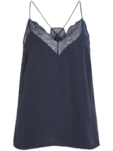 Vila Top VIMELLI LACE SINGLET TOP 14052425 Navy Blazer