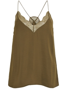 Vila Top VIMELLI LACE SINGLET TOP 14052425 Dark Olive