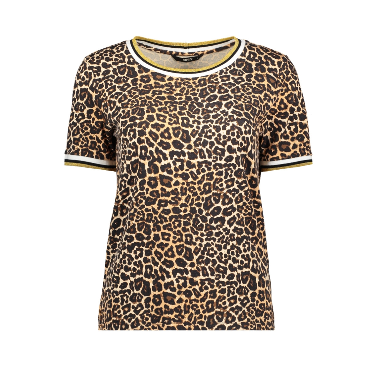 onlnew sporty s/s top jrs 15187690 only t-shirt black/golden yellow