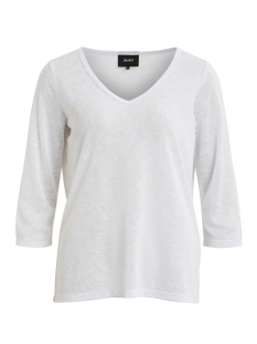 Object T-shirt OBJTESSI SLUB 3/4 TOP NOOS 23028539 White