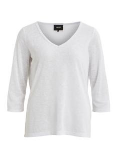 objtessi slub 3/4 top noos 23028539 object t-shirt white