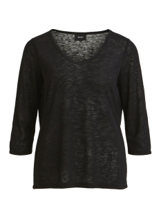 Object T-shirt OBJTESSI SLUB 3/4 TOP NOOS 23028539 Black