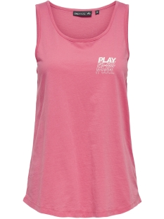 Only Play Sport top ONPMARINA REGULAR TANK TOP 15170370 Pink Lemonade/W. WHITE