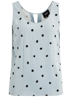 Object Top OBJBAY S/L TOP AOP SEASONAL 23029180 Stone Blue/AOP EVIE PRINT