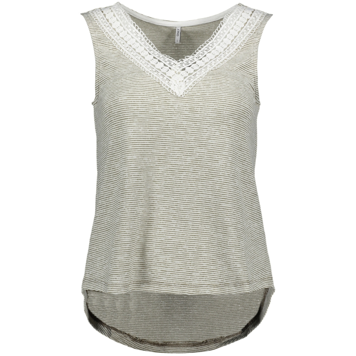 onlmira s l top jrs 15176278 only top martini olive/cloud dancer