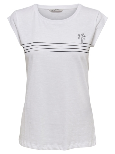 Only T-shirt ONYBINE S S TOP BOX JRS 15178086 Bright White/BLACK