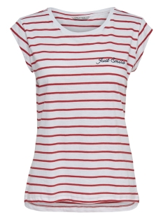 Only T-shirt ONYBINE S S TOP BOX JRS 15178086 Bright White/FLAMES