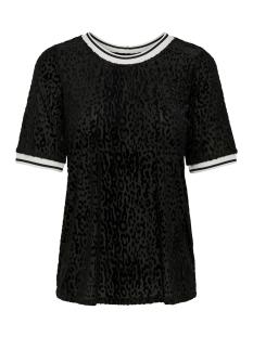 Only T-shirt ONLJENNA BURNOUT S S TOP JRS 15181173 Black/BLACK LEO