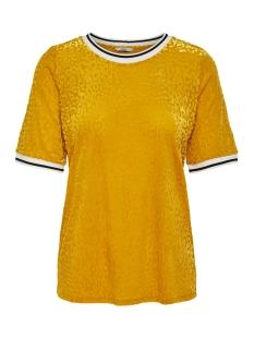 Only T-shirt ONLJENNA BURNOUT S S TOP JRS 15181173 Golden Yellow/LEO