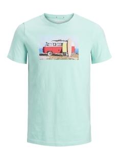 Jack & Jones T-shirt JORHOTEL TEE SS CREW NECK 12152660 Aqua Sky