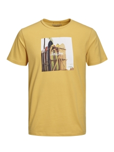 Jack & Jones T-shirt JORHOTEL TEE SS CREW NECK 12152660 Yolk Yellow