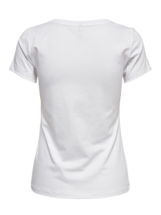 onlfancy fit s s face top box co jr 15182747 only t-shirt bright white/face