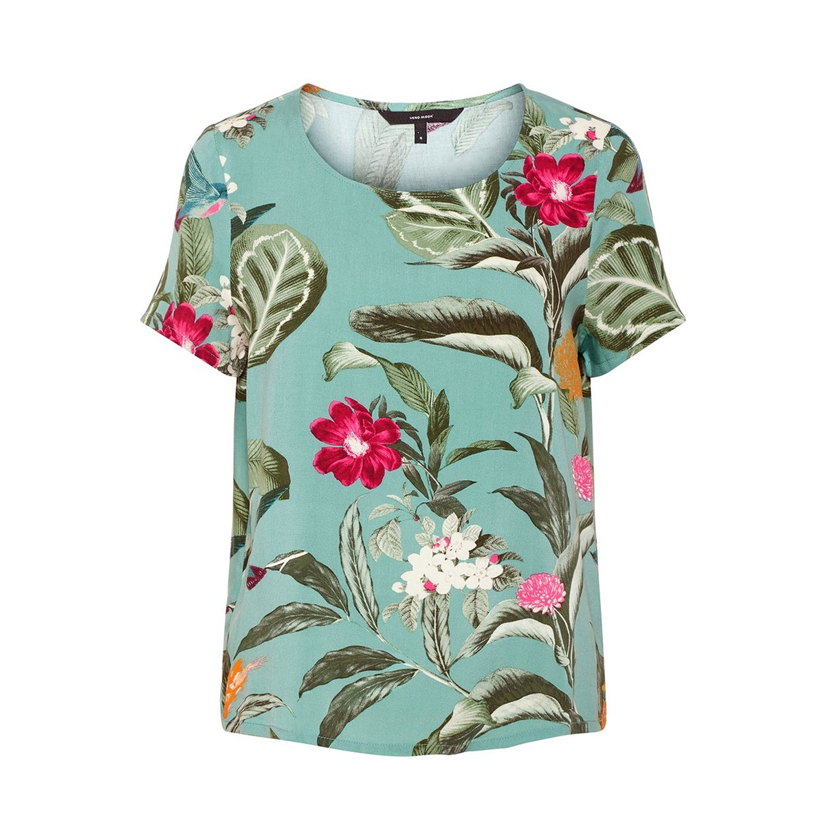 vmsimply easy ss top 10211480 vero moda t-shirt wasabi/tropicana