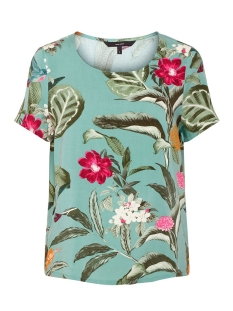 Vero Moda T-shirt VMSIMPLY EASY SS TOP 10211480 Wasabi/TROPICANA
