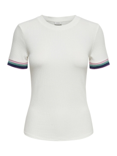 jdyviolet s s top jrs 15174239 jacqueline de yong t-shirt cloud dancer/multi color
