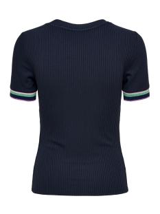 jdyviolet s s top jrs 15174239 jacqueline de yong t-shirt navy blazer/multi color