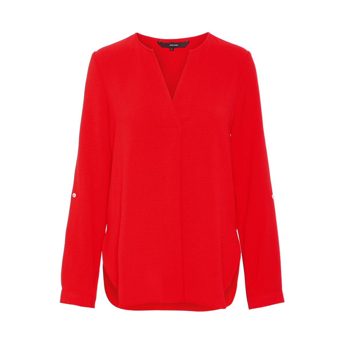vmannie ls top wvn 10214383 vero moda blouse fiery red