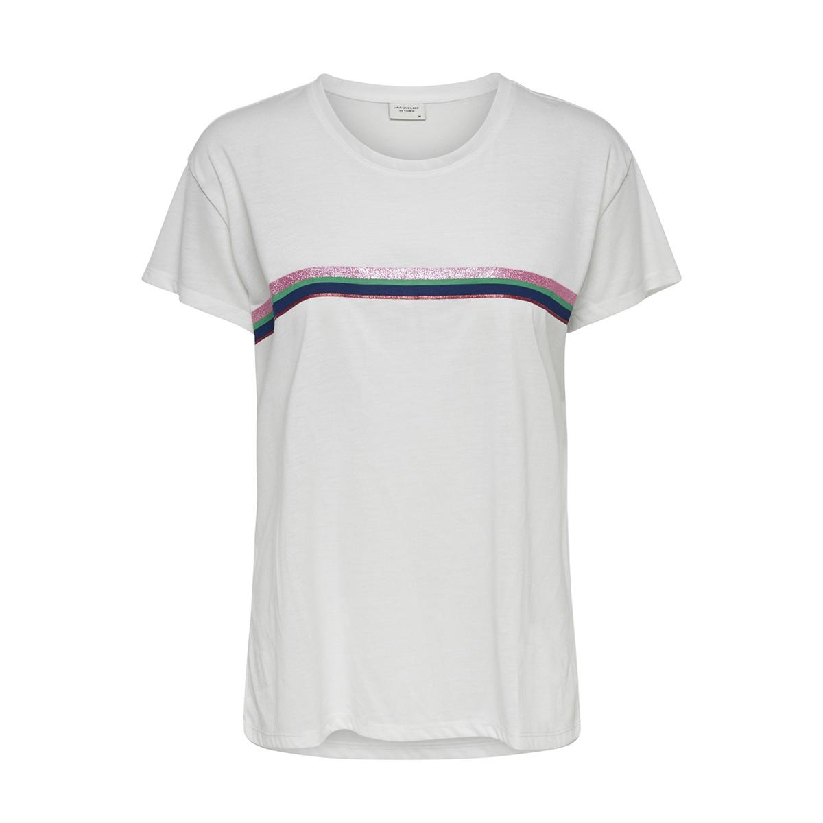 jdynixon s s print top 04 19 jrs 15176555 jacqueline de yong t-shirt cloud dancer/stripe