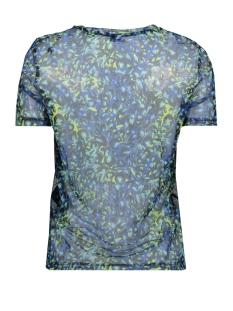 vmdiggy ss mesh t-shirt exp 10218878 vero moda t-shirt baleine blue