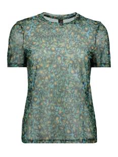 vmdiggy ss mesh t shirt exp 10218878 vero moda t-shirt scuba blue