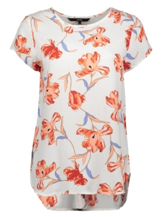 Vero Moda T-shirt VMBOCA SS BLOUSE MULTI AOP 10132802 Snow White/TENILLA