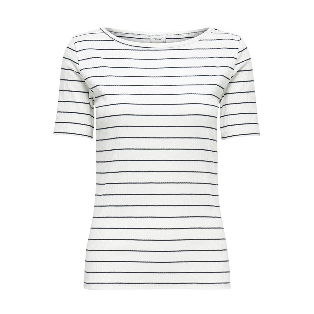 jdynevada icon s s top jrs 15173916 jacqueline de yong t-shirt cloud dancer/navy blaze