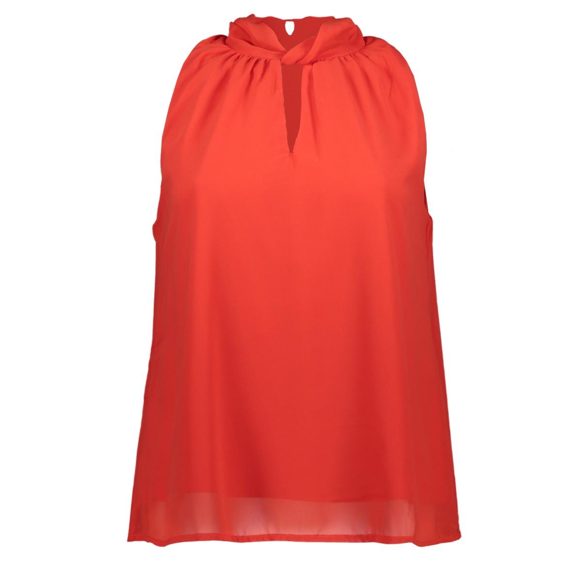vmline s/l highneck top 10213645 vero moda top fiery red
