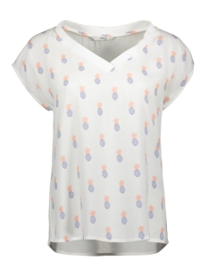 Only T-shirt ONLROSE CAPSLEEVE TOP WVN 15177363 Cloud Dancer/PINEAPPLE