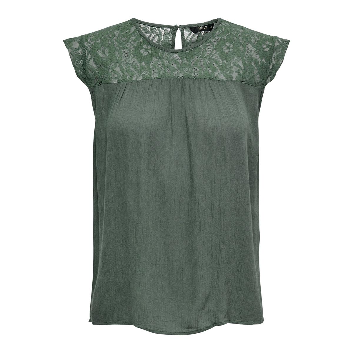 onlkarmen s/l top wvn noos 15157657 only t-shirt balsam green