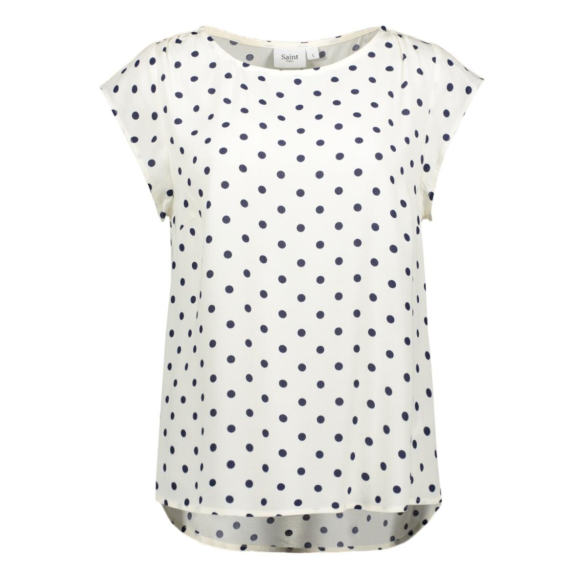 t shirt met stippen print t1131 saint tropez t-shirt 1053