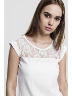 ladies top laces tee tb714 urban classics t-shirt white