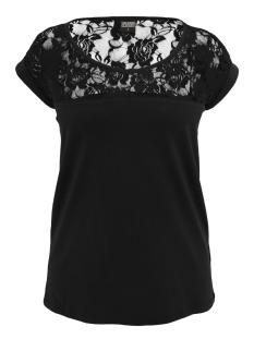 Urban Classics T-shirt LADIES TOP LACES TEE TB714 BLACK