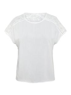 vmcille boca ss top wvn 10213128 vero moda blouse snow white
