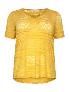 Only Carmakoma T-shirt CARGREEN S/S TOP V-NECK 15178108 Solar Power