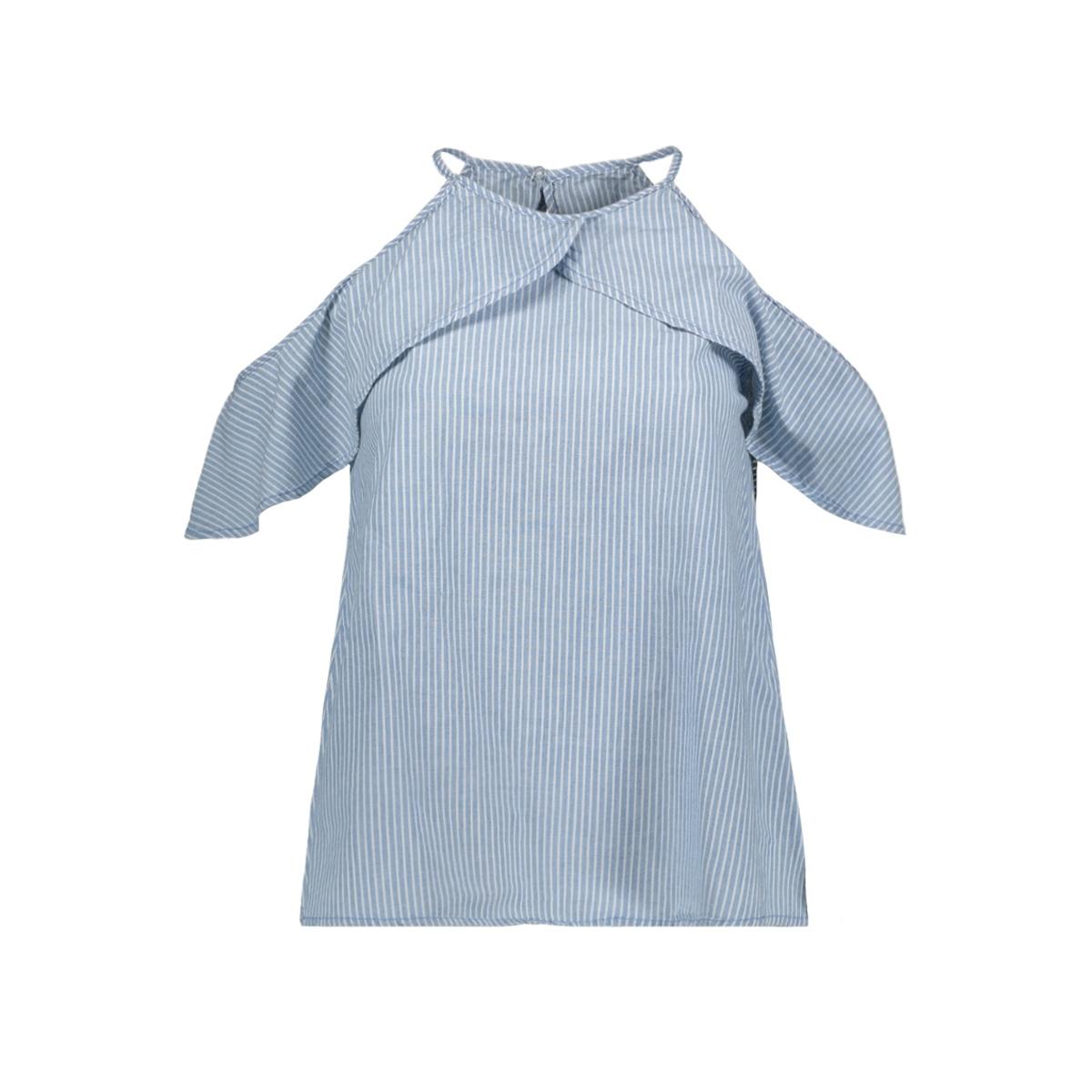 vmsandra chambray top ga 10211807 vero moda top light blue denim