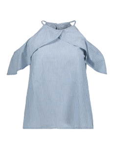 Vero Moda Top VMSANDRA CHAMBRAY TOP GA 10211807 Light Blue Denim