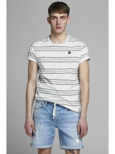 jordawson tee ss crewneck 12152494 jack & jones t-shirt cloud dancer
