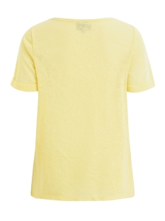objtessi slub s/s v-neck seasonal 23026968 object t-shirt elfin yellow