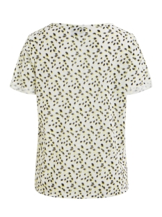 objtessi slub s/s v-neck aop season 23029730 object t-shirt white