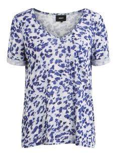 Object T-shirt OBJTESSI SLUB S/S V-NECK AOP SEASON 23029730 Clematis Blue