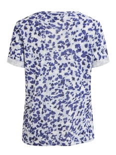 objtessi slub s/s v-neck aop season 23029730 object t-shirt clematis blue