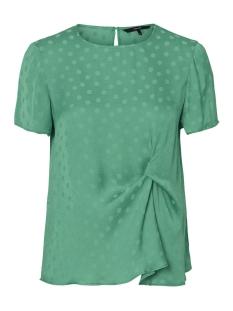 vmsille dot s/s midi top wvn 10210102 vero moda t-shirt holly green