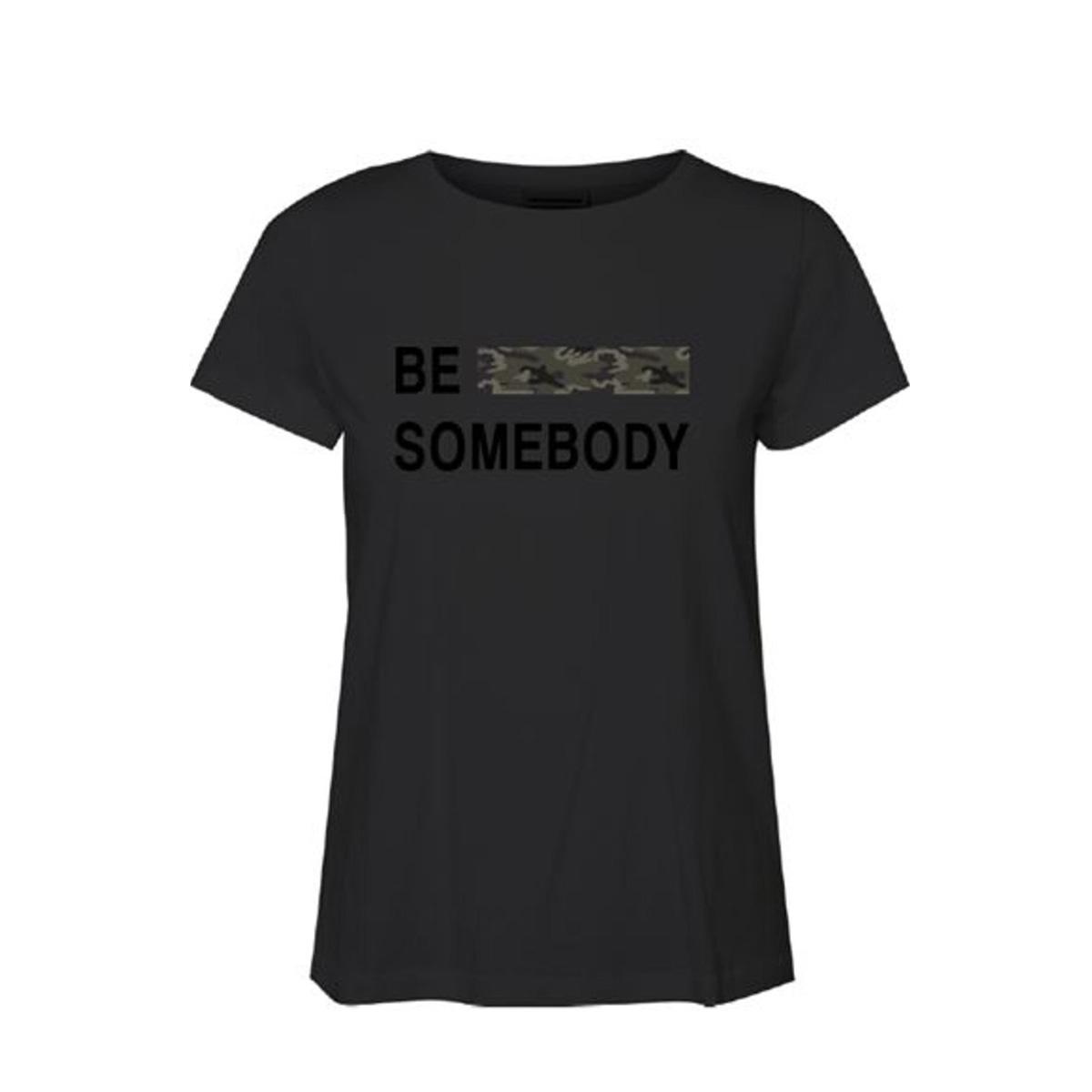 vmbe camo francis ss top box ga  jr 10219522 vero moda t-shirt black/be somebod