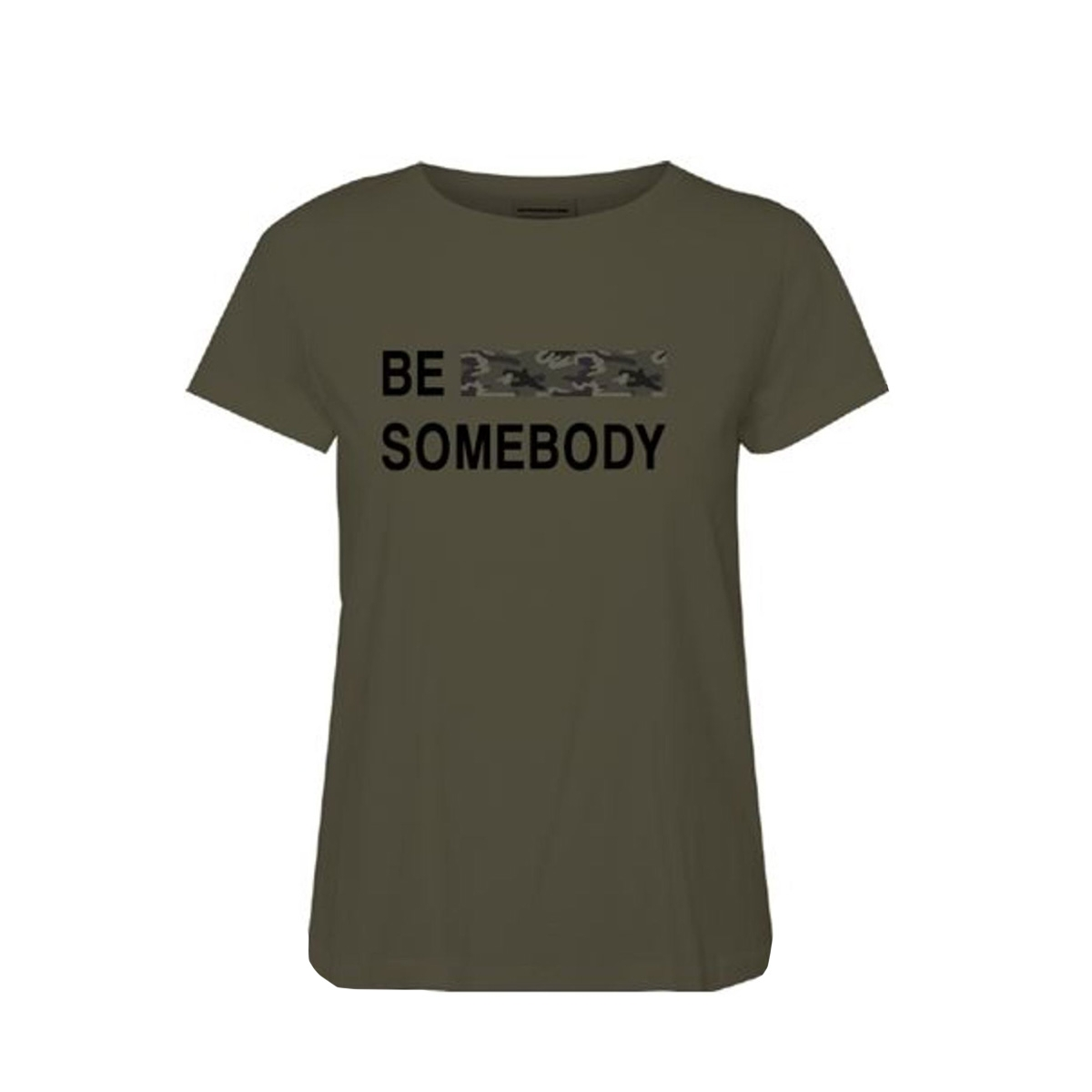 vmbe camo francis ss top box ga  jr 10219522 vero moda t-shirt ivy green/be somebod
