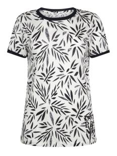 vera top leaves print 192 zoso t-shirt navy