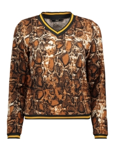 Only Trui ONLSELCO SNAKE  L/S TOP JRS 15181942 Caramel Cafe