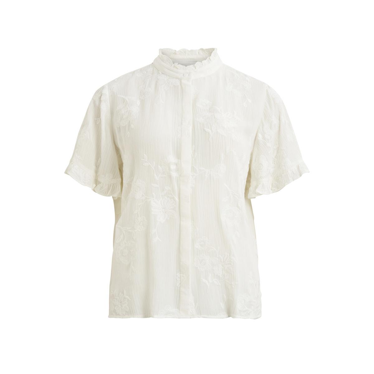 objfoila s/s shirt asp 23030625 object blouse gardenia