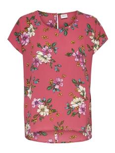 Jacqueline de Yong Blouse JDYTRICK TREATS S S TOP WVN 15174353 Cayenne/PINK FLOWER